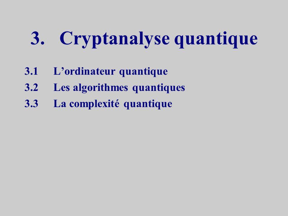 3. Cryptanalyse quantique