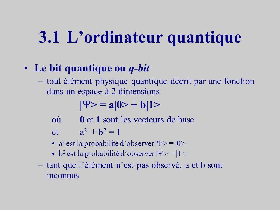3.1 L'ordinateur quantique