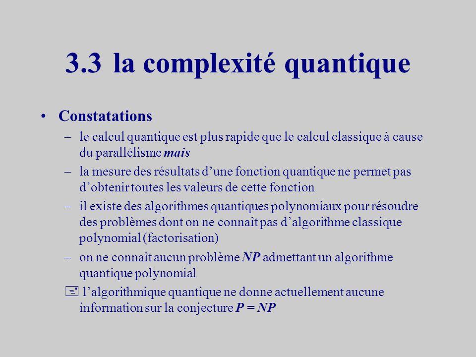 3.3 la complexité quantique