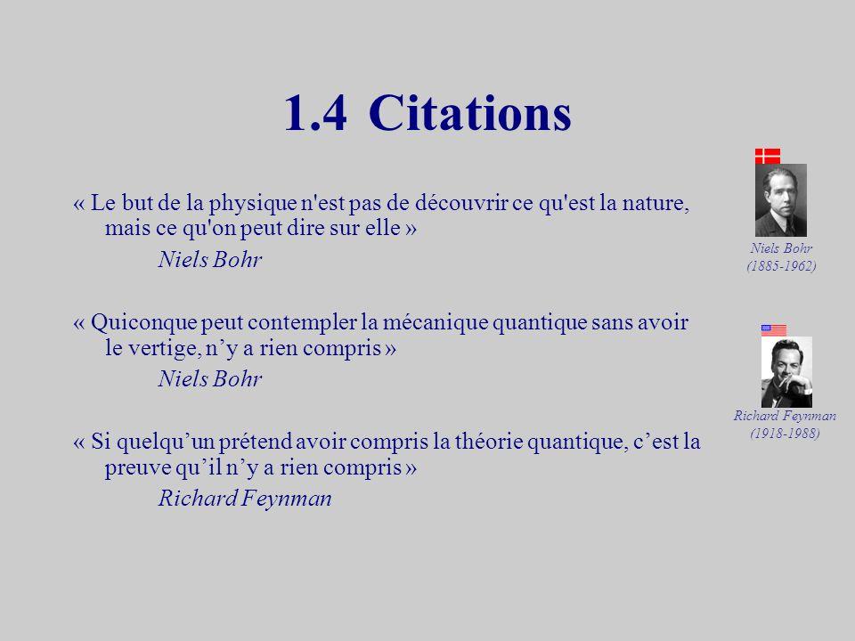 1.4 Citations « Le but de la physique n est pas de découvrir ce qu est la nature, mais ce qu on peut dire sur elle »