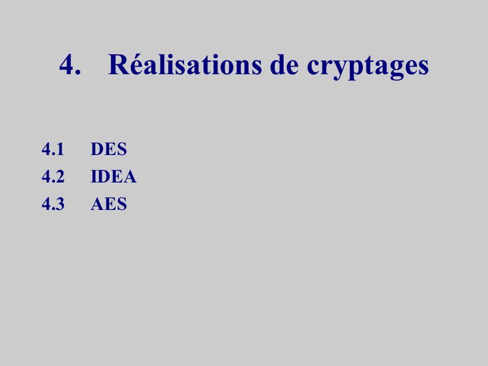 4. Réalisations de cryptages