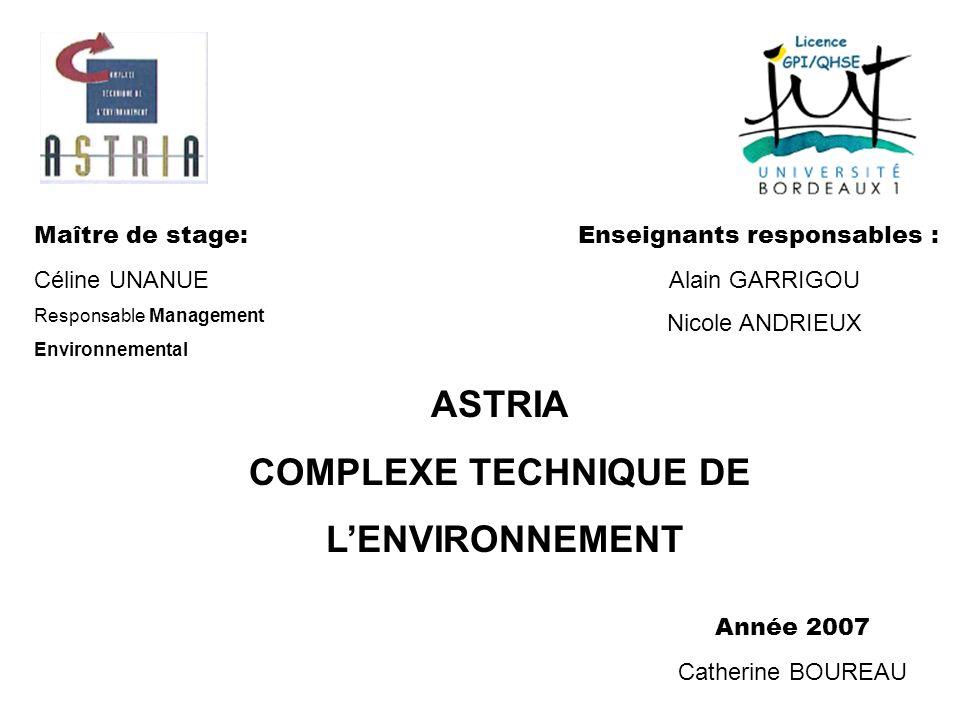 ASTRIA COMPLEXE TECHNIQUE DE L'ENVIRONNEMENT
