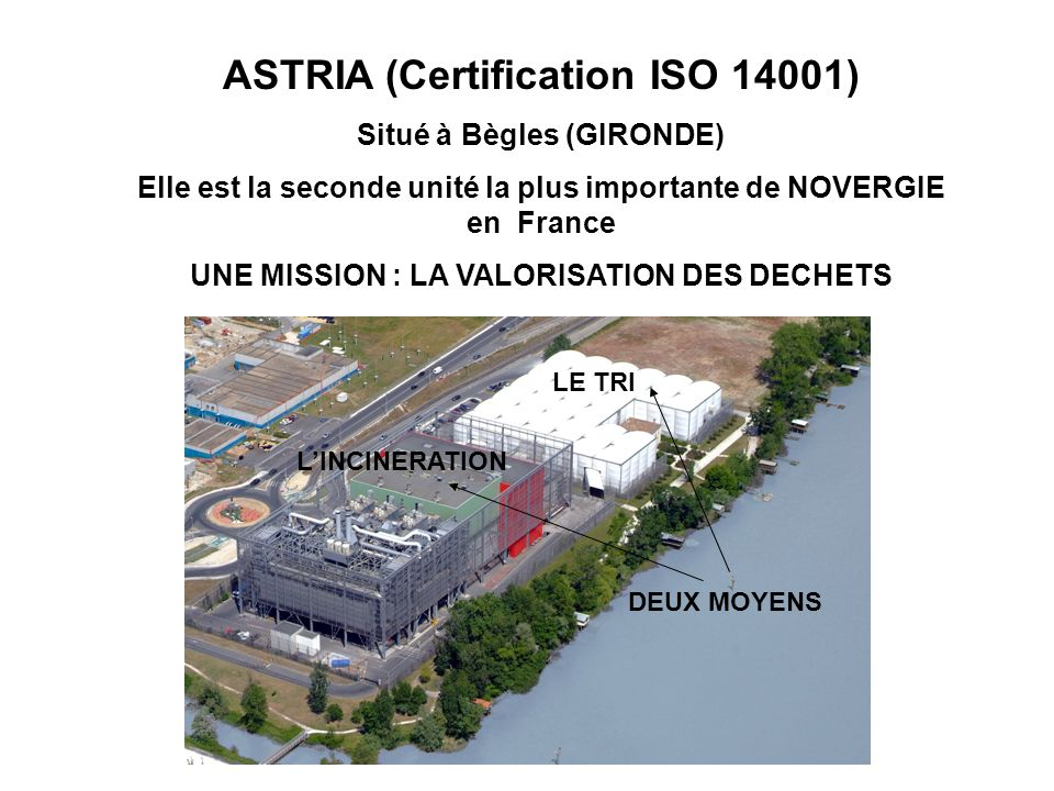ASTRIA (Certification ISO 14001)