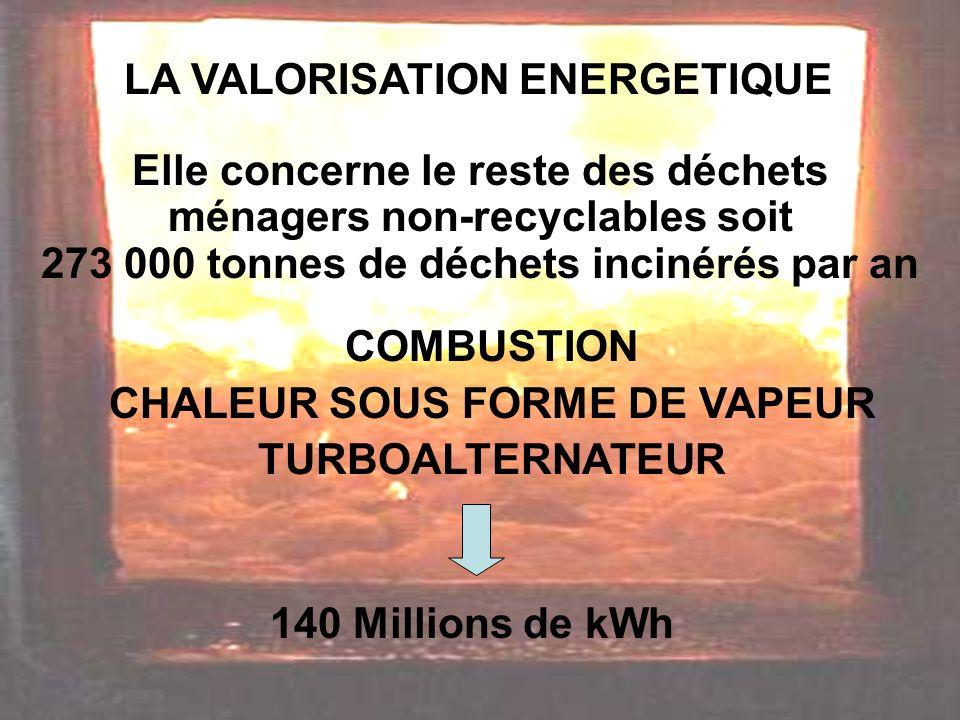 LA VALORISATION ENERGETIQUE CHALEUR SOUS FORME DE VAPEUR