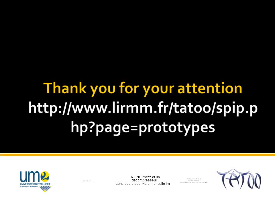 Thank you for your attention http://www. lirmm. fr/tatoo/spip. php