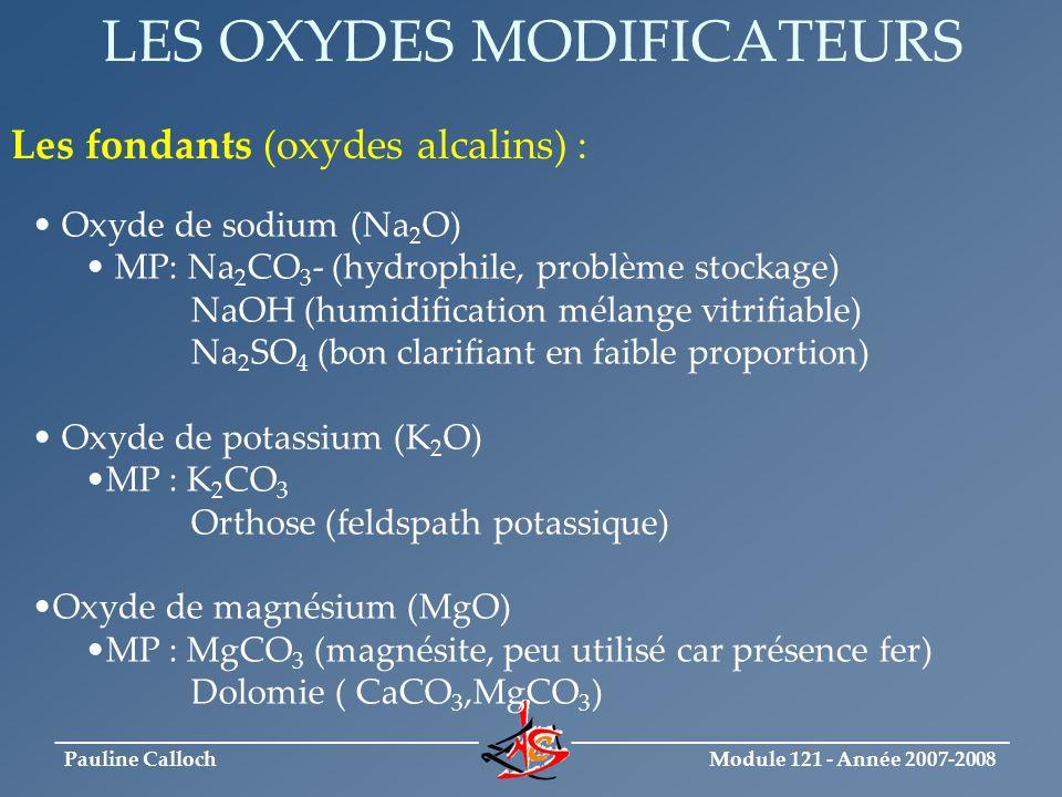 LES OXYDES MODIFICATEURS