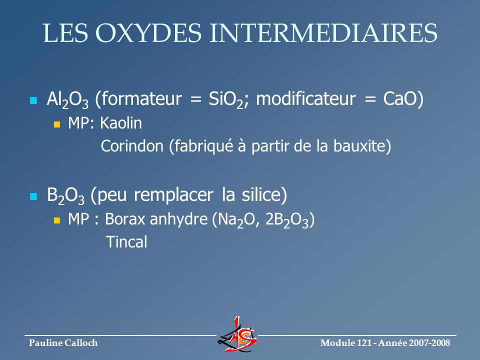 LES OXYDES INTERMEDIAIRES