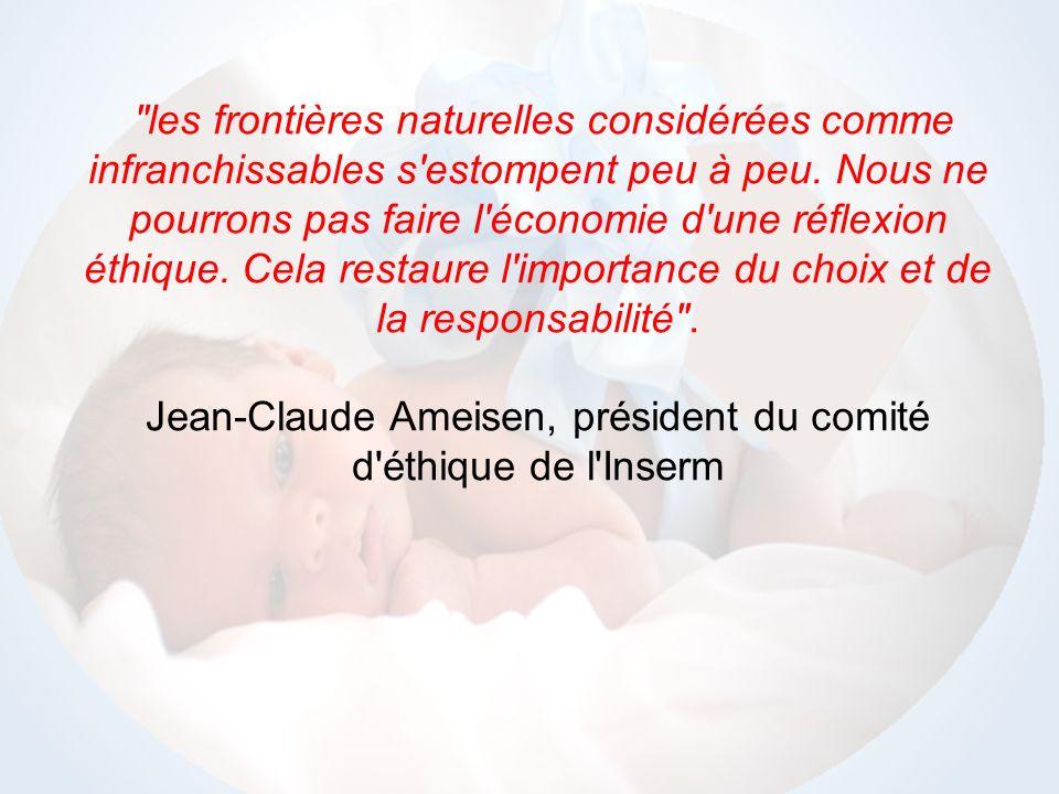 Jean-Claude Ameisen, président du comité d éthique de l Inserm