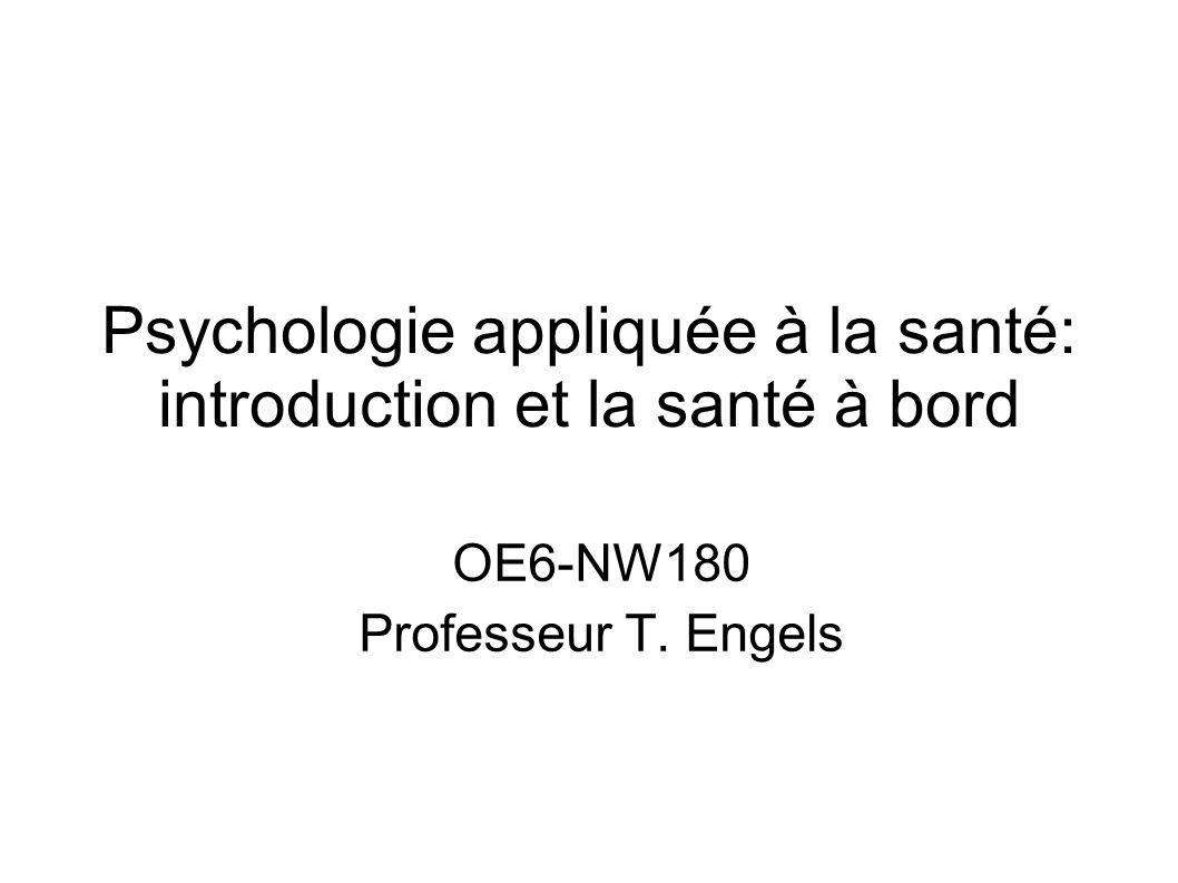 Psychologie appliquée à la santé: introduction et la santé à bord
