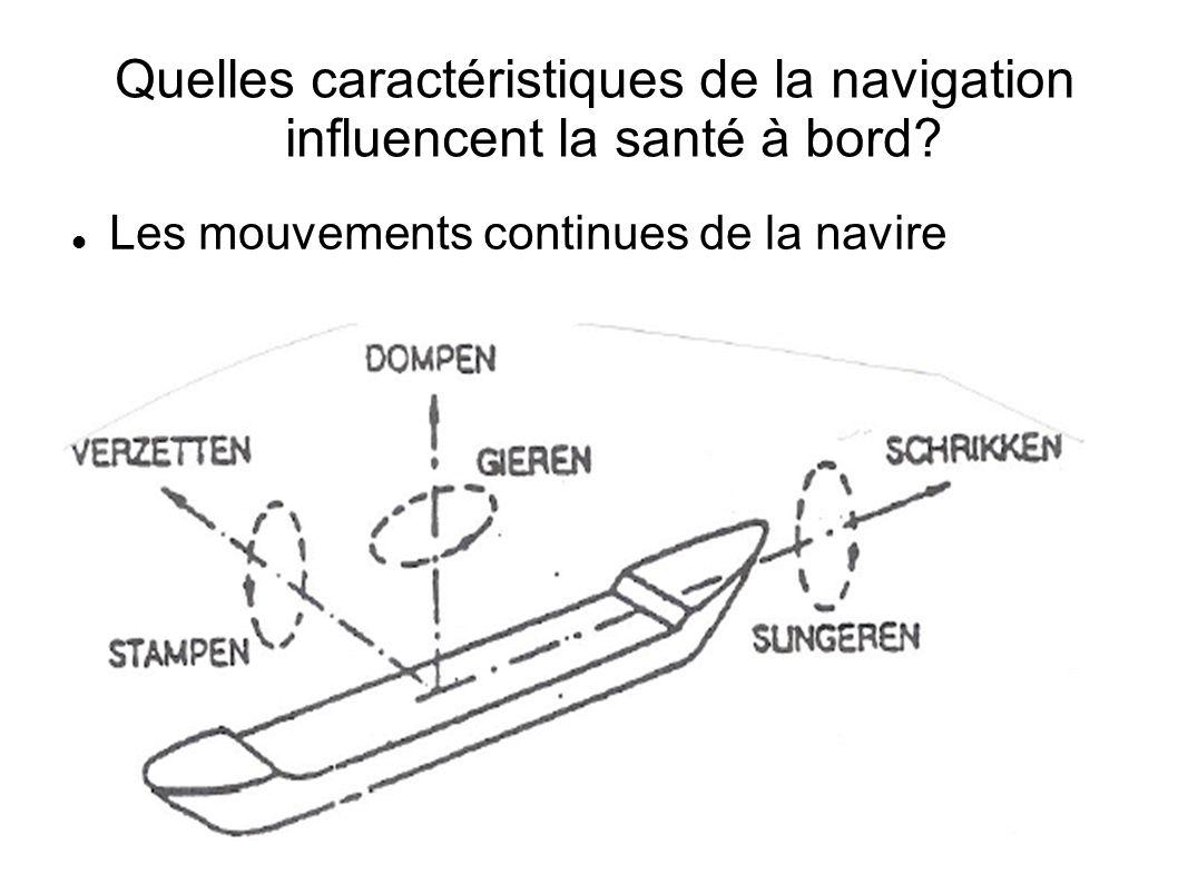 Quelles caractéristiques de la navigation influencent la santé à bord