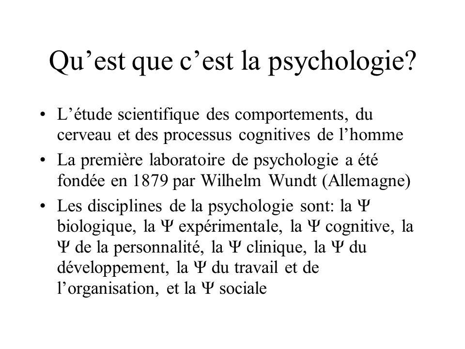 Qu'est que c'est la psychologie