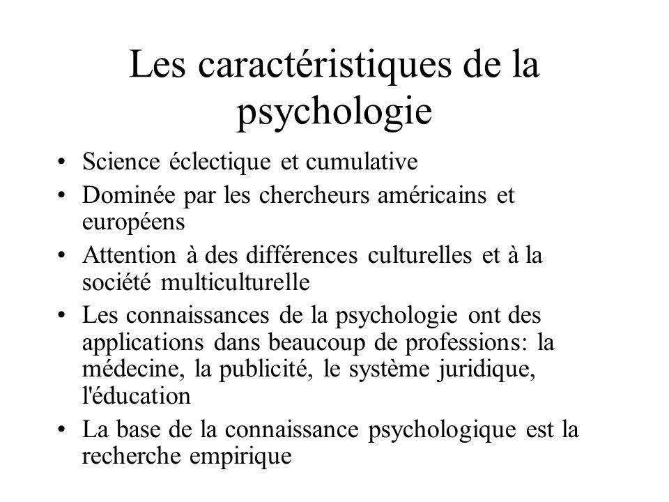 Les caractéristiques de la psychologie