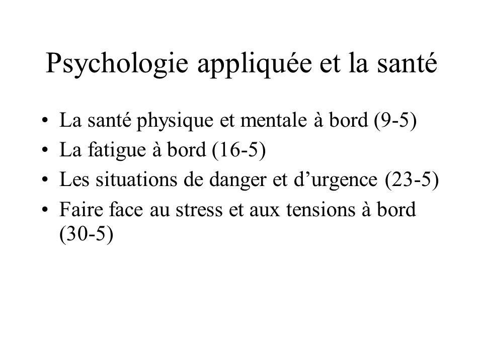 Psychologie appliquée et la santé