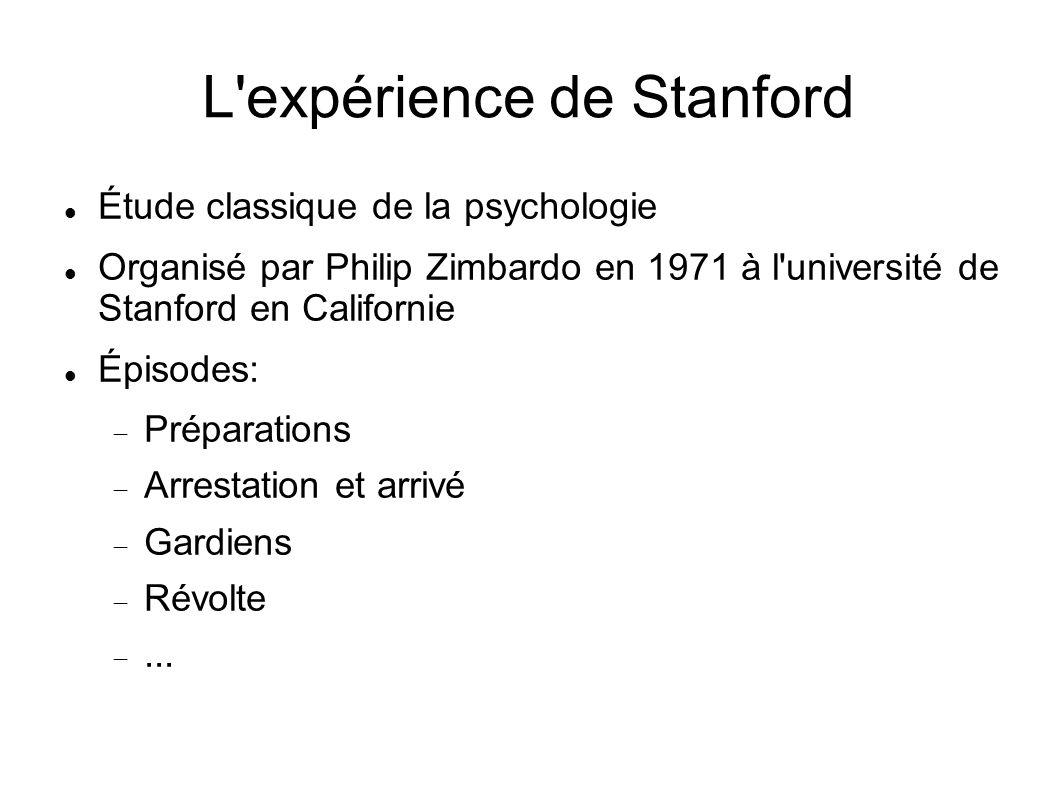 L expérience de Stanford