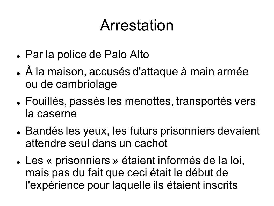 Arrestation Par la police de Palo Alto