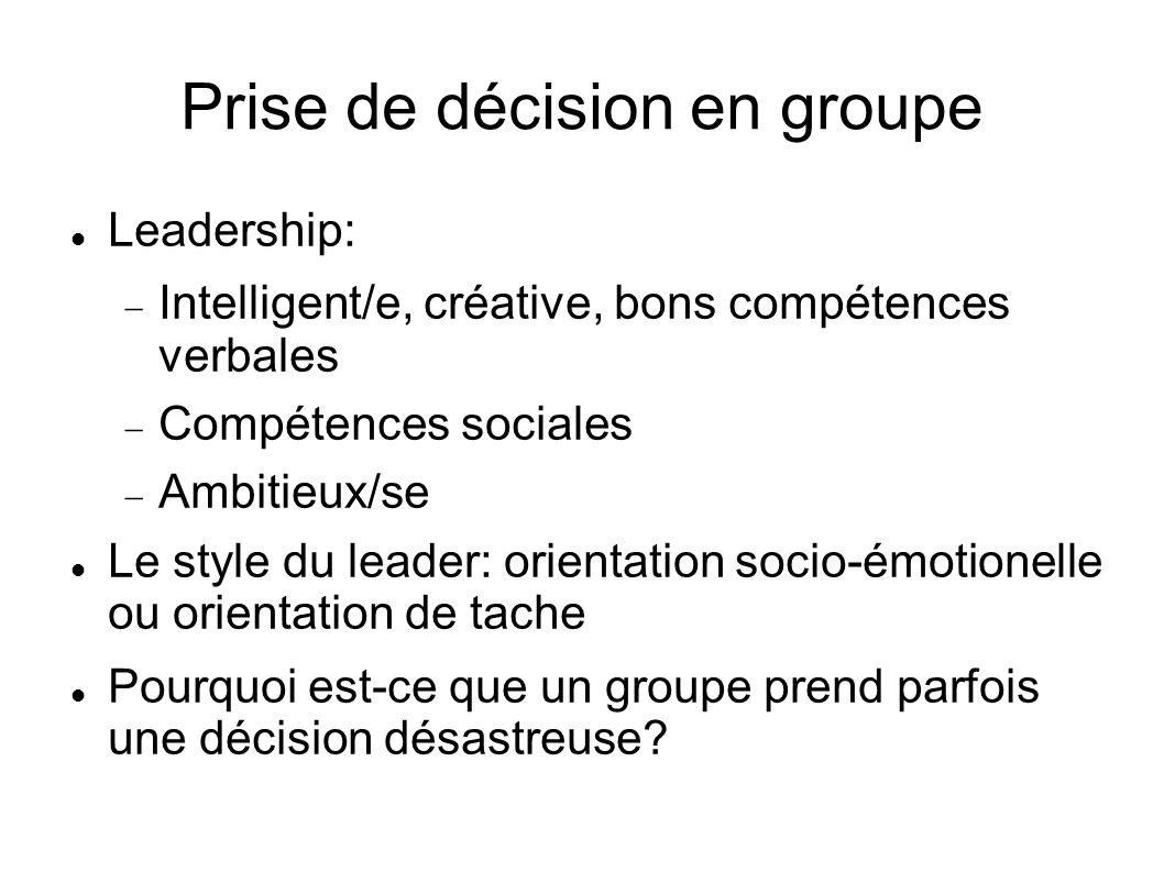 Prise de décision en groupe