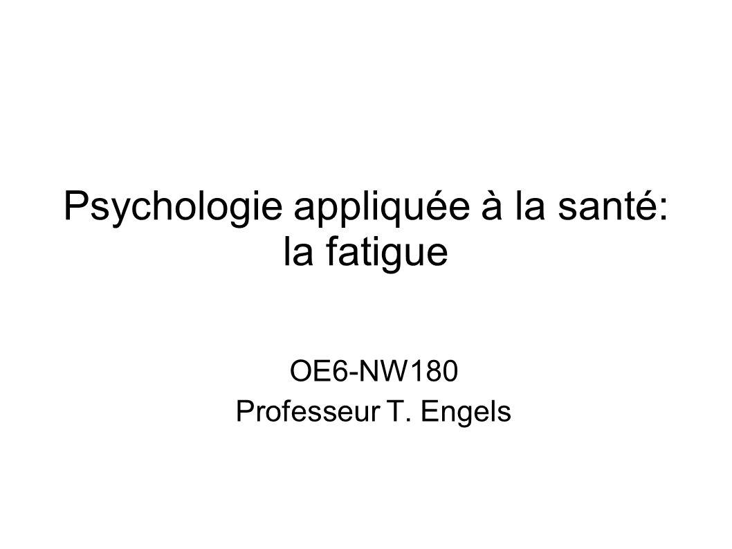 Psychologie appliquée à la santé: la fatigue