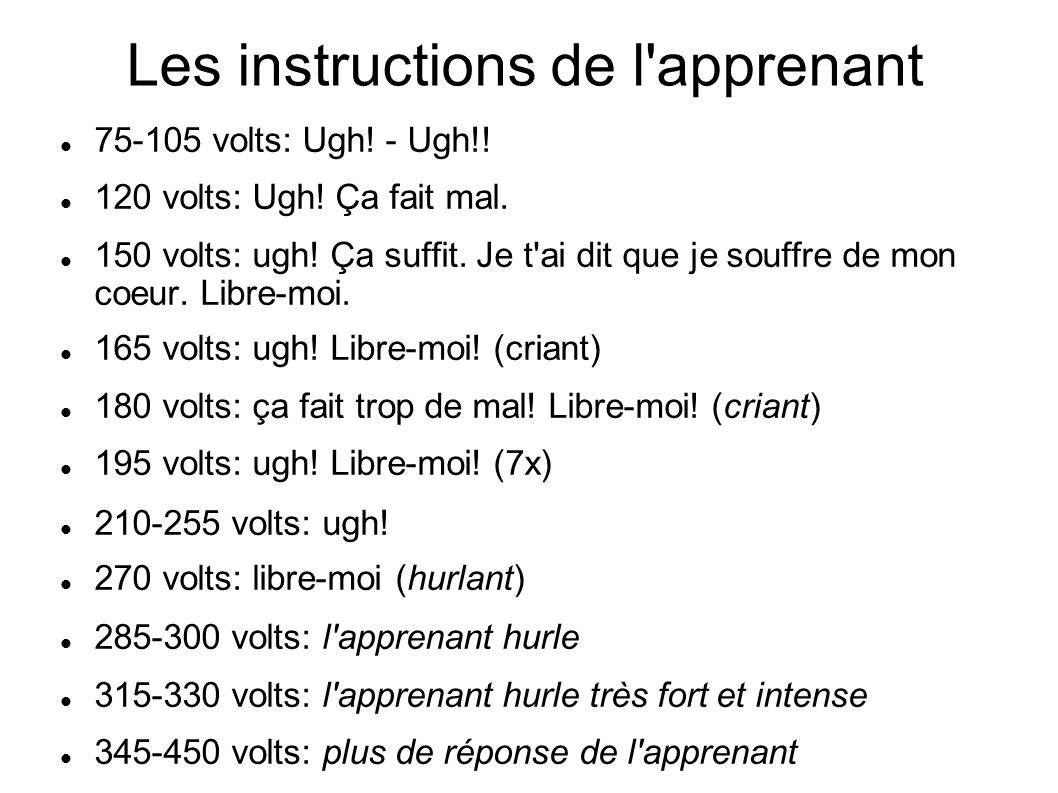 Les instructions de l apprenant