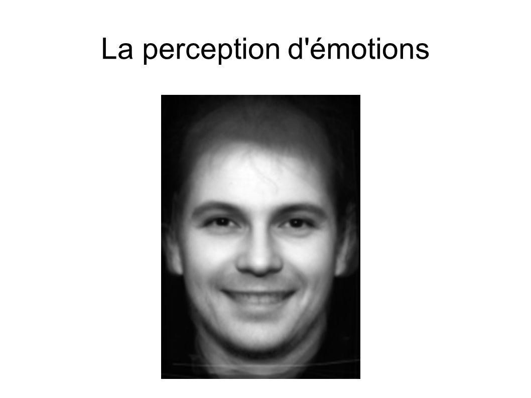 La perception d émotions