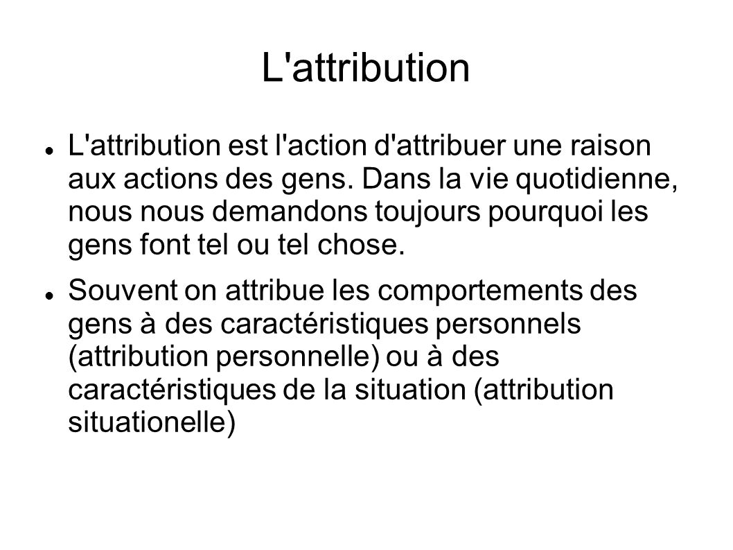 L attribution