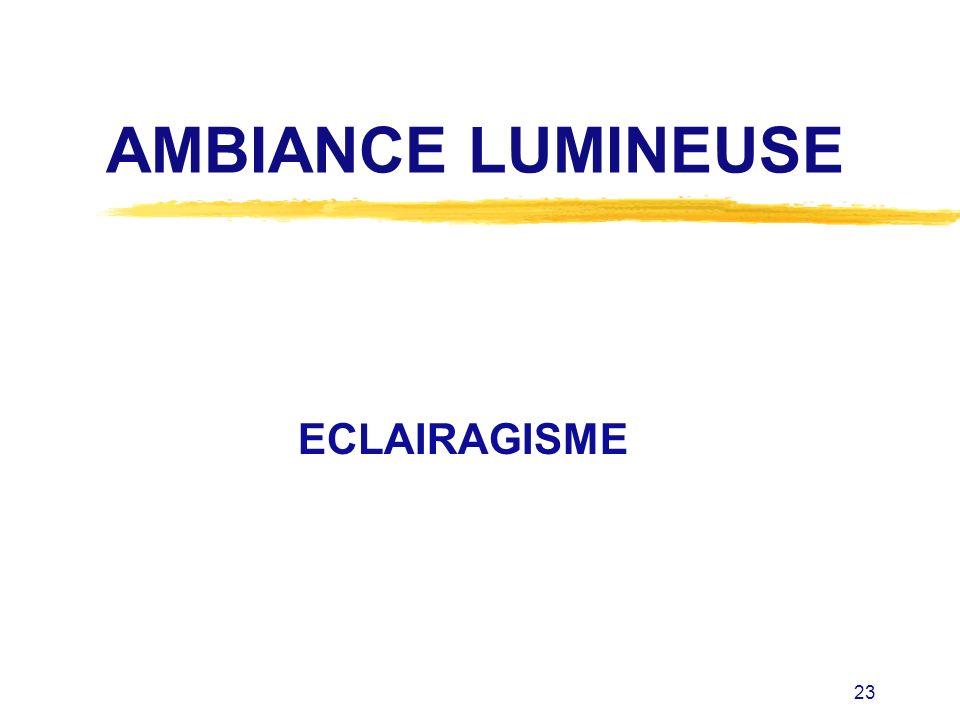 AMBIANCE LUMINEUSE ECLAIRAGISME