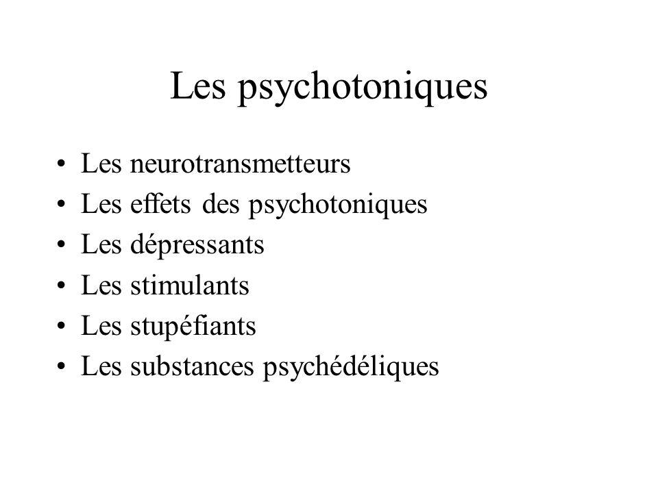 Les psychotoniques Les neurotransmetteurs