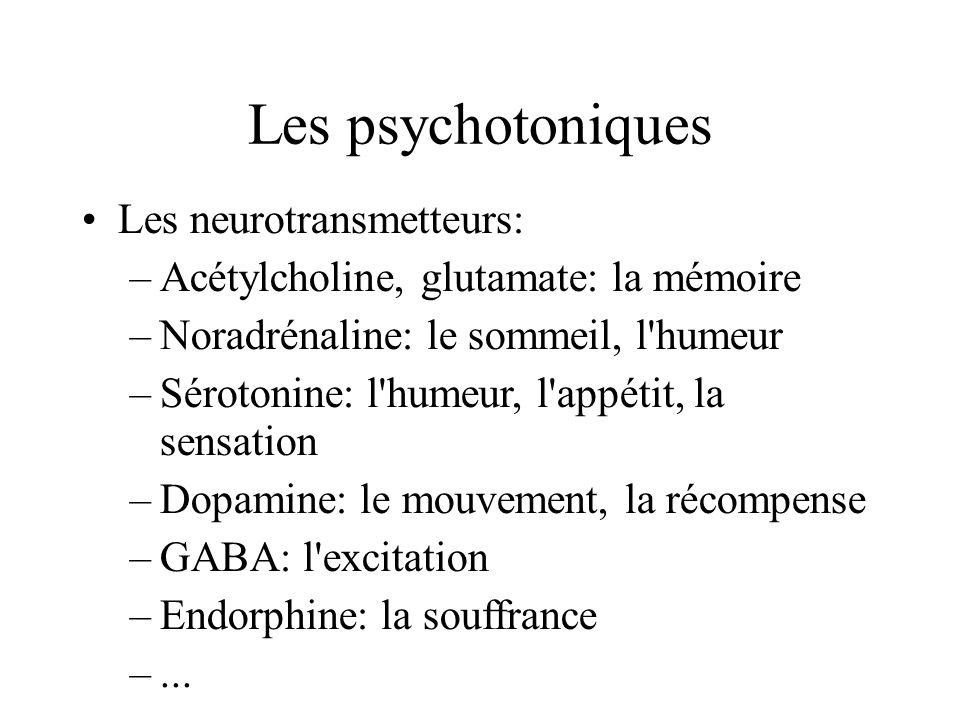 Les psychotoniques Les neurotransmetteurs: