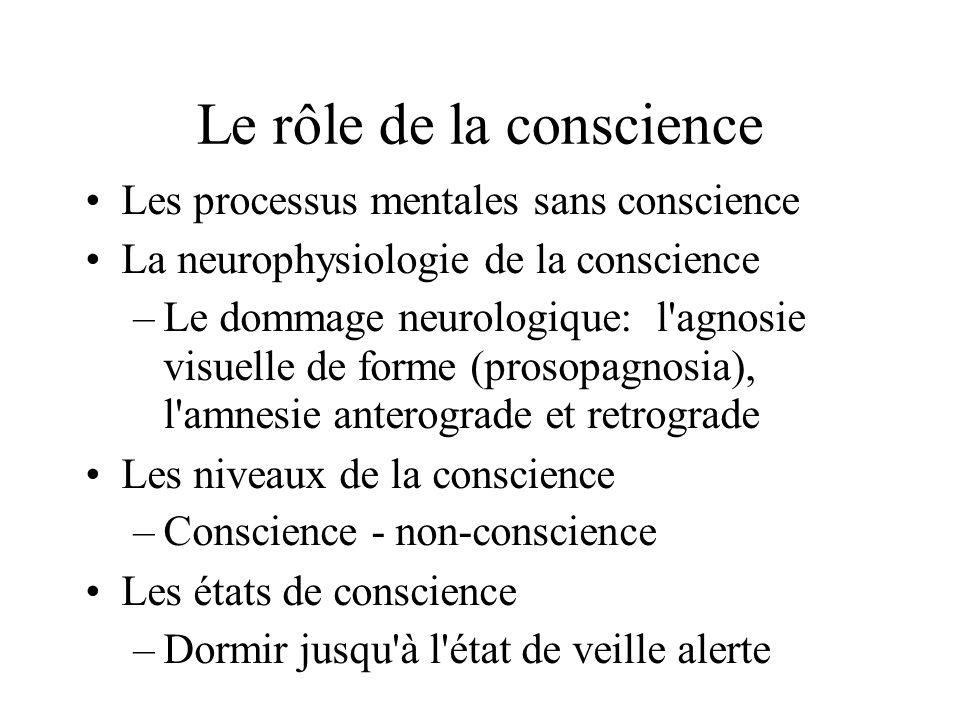 Le rôle de la conscience