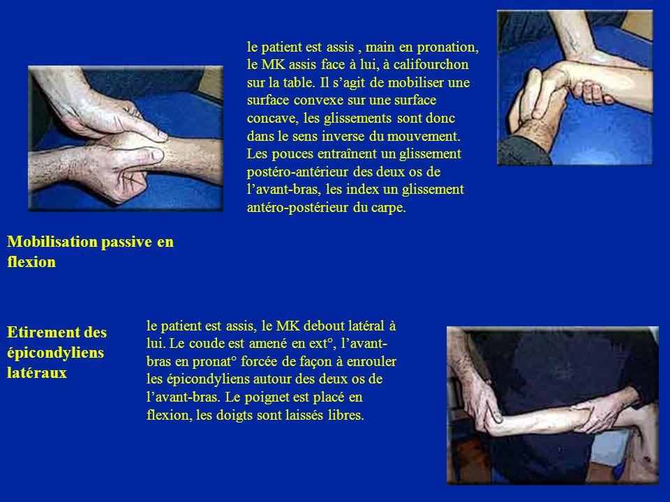 Mobilisation passive en flexion