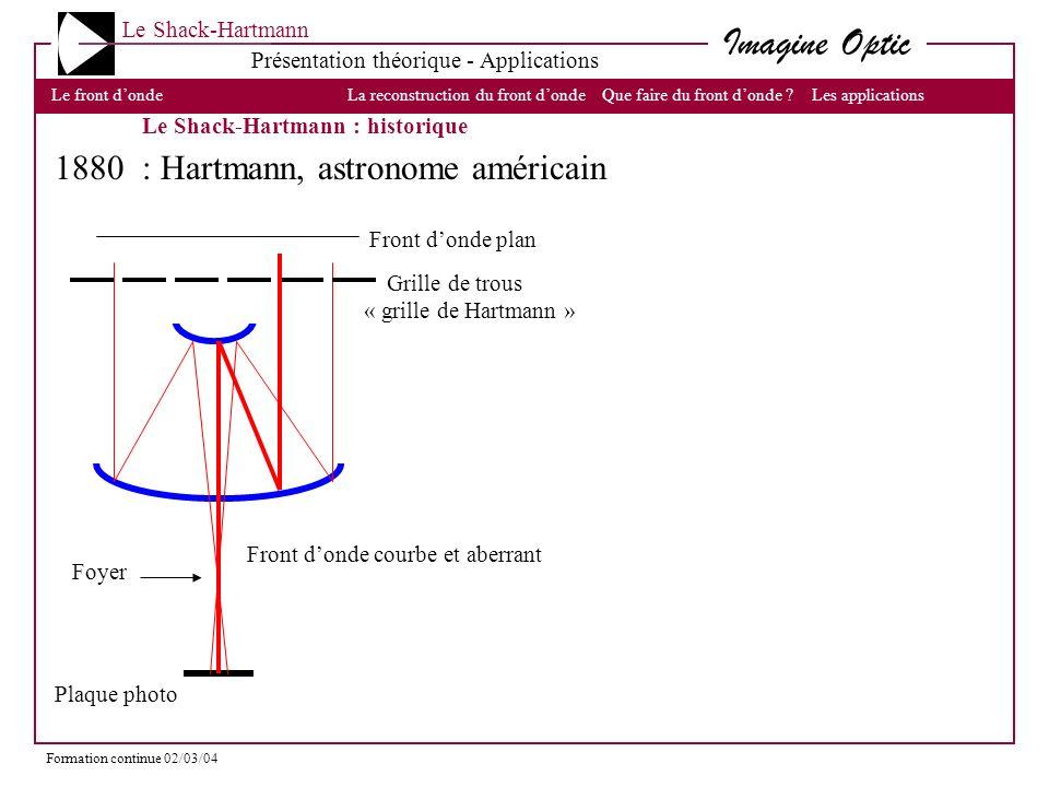 1880 : Hartmann, astronome américain