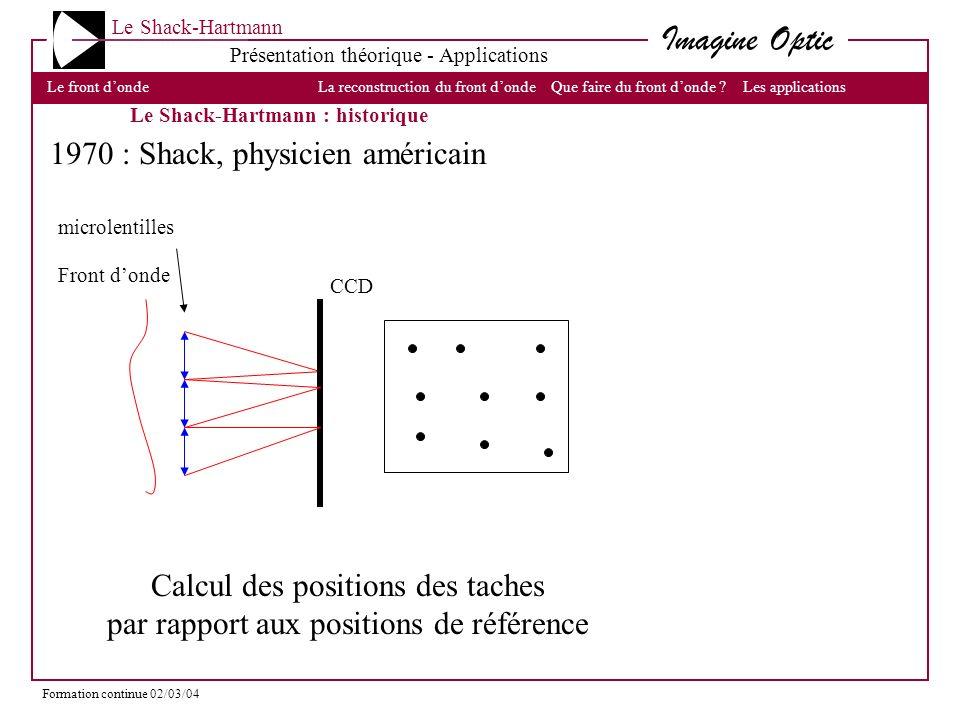 1970 : Shack, physicien américain