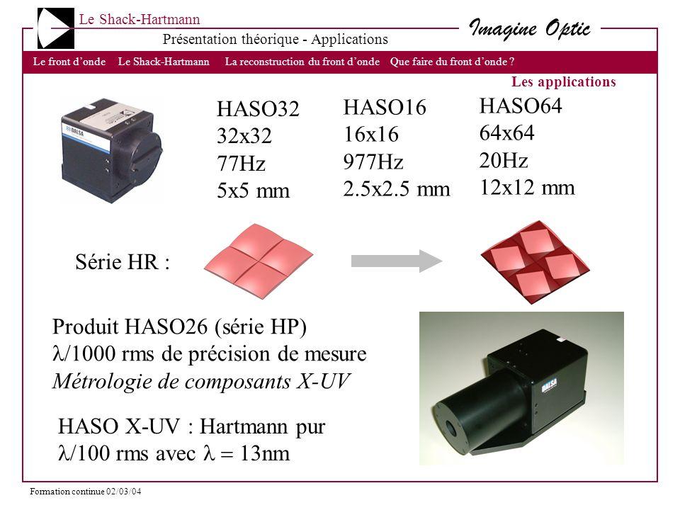 Produit HASO26 (série HP) l/1000 rms de précision de mesure