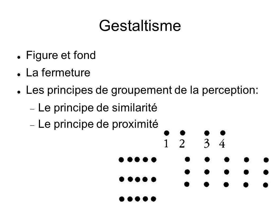 Gestaltisme Figure et fond La fermeture