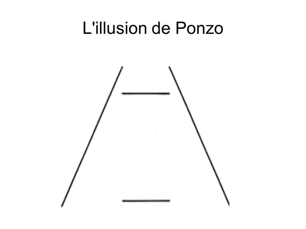 L illusion de Ponzo