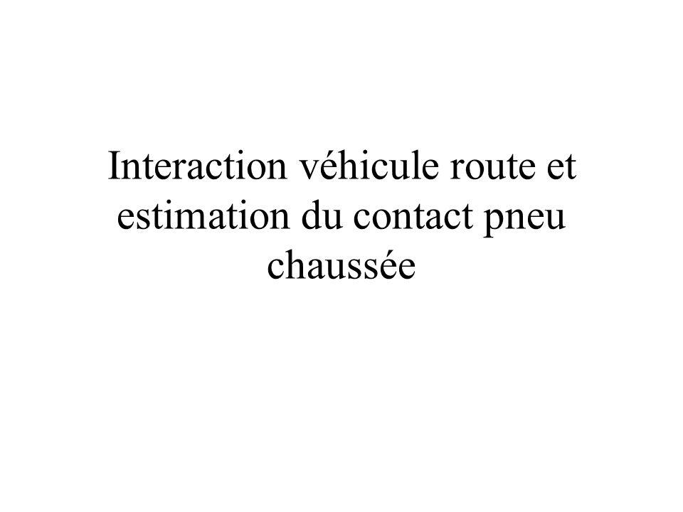 Interaction véhicule route et estimation du contact pneu chaussée