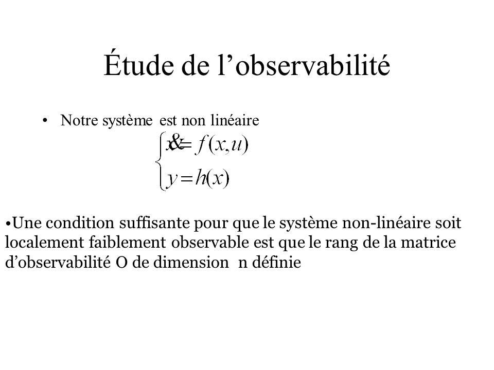 Étude de l'observabilité