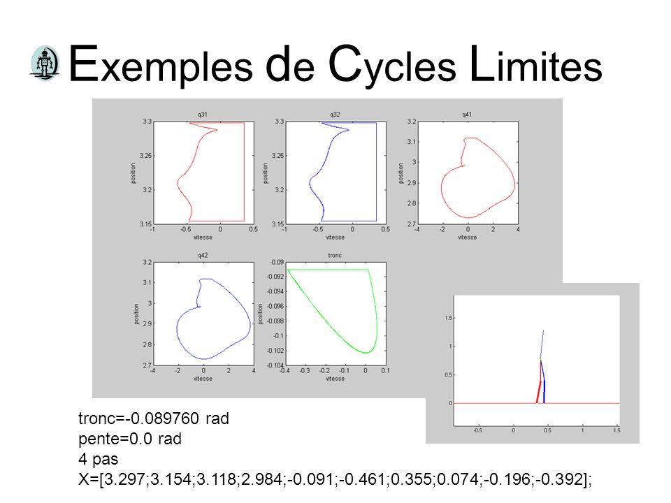 Exemples de Cycles Limites