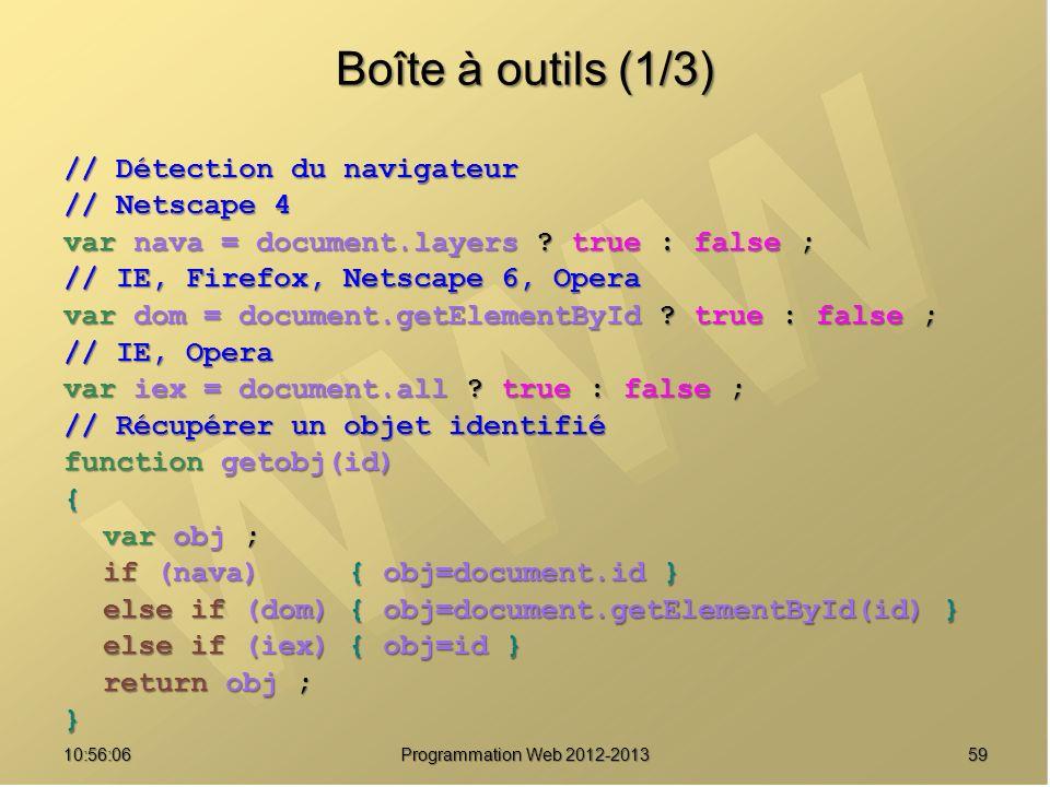 Boîte à outils (1/3) // Détection du navigateur // Netscape 4