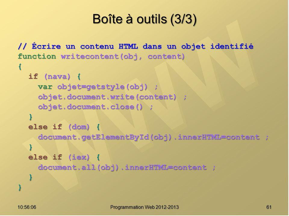 Boîte à outils (3/3) // Écrire un contenu HTML dans un objet identifié
