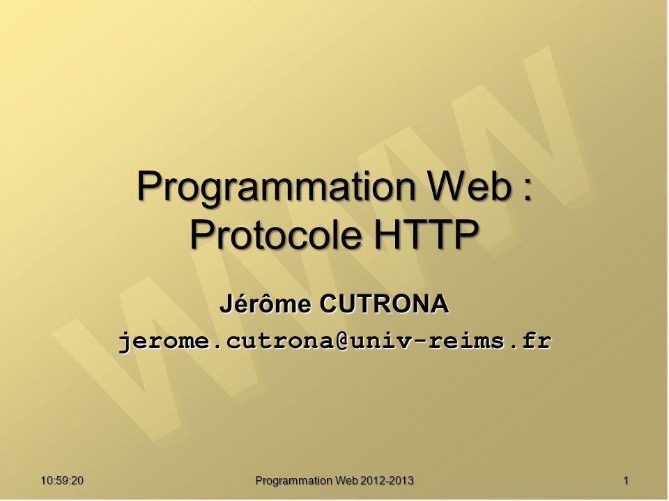 Programmation Web : Protocole HTTP