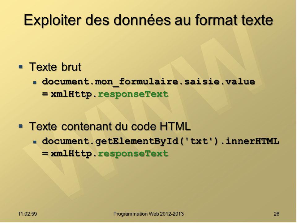 Exploiter des données au format texte