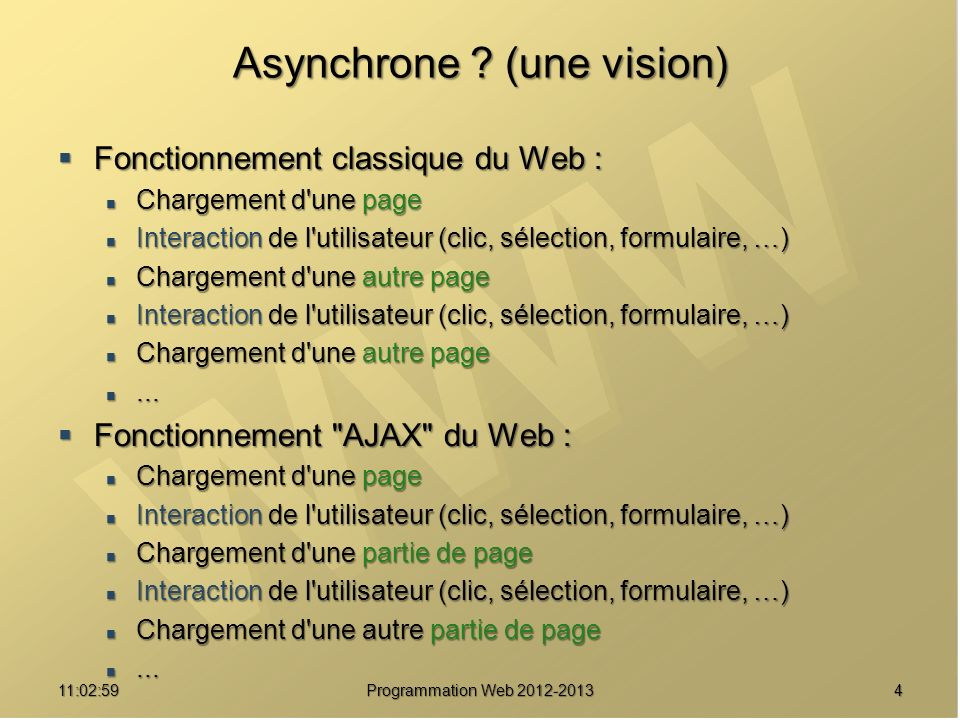 Asynchrone (une vision)