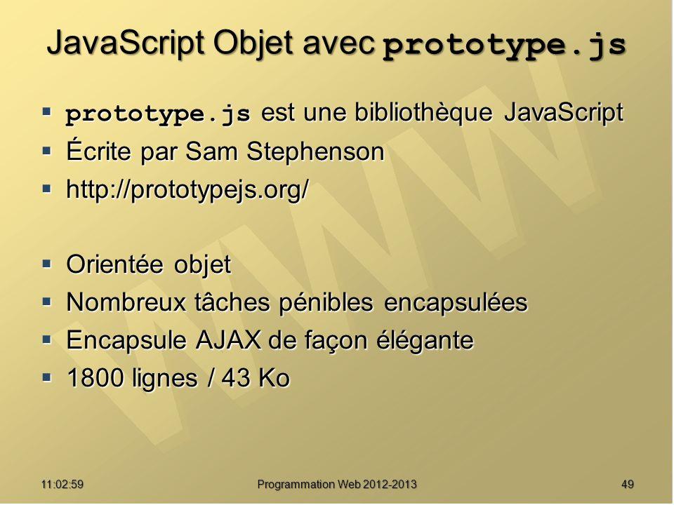 JavaScript Objet avec prototype.js