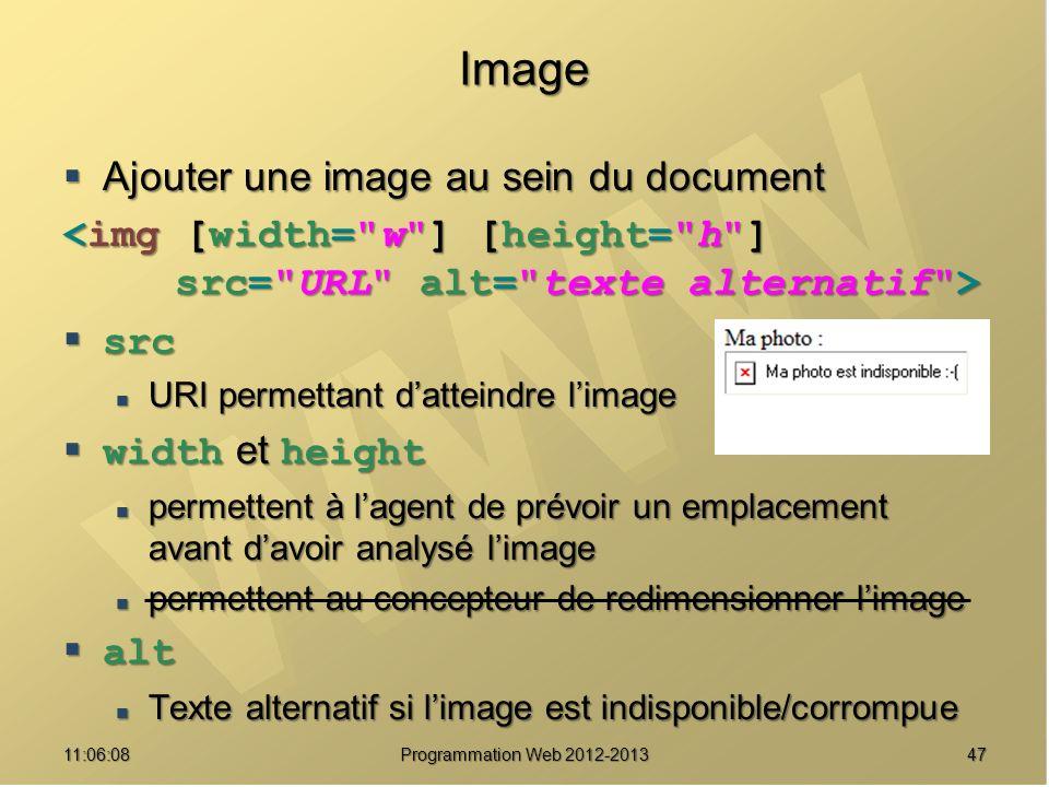 Image Ajouter une image au sein du document