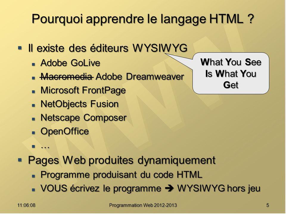 Pourquoi apprendre le langage HTML