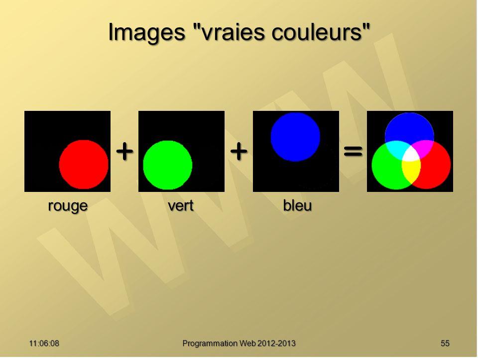Images vraies couleurs