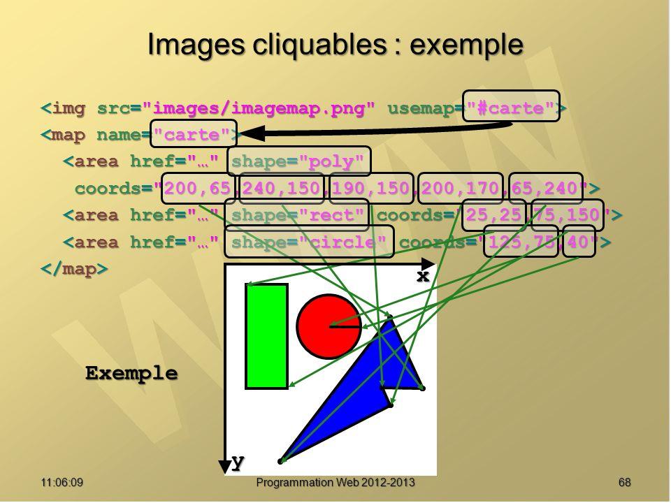 Images cliquables : exemple