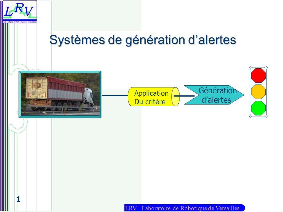 Systèmes de génération d'alertes