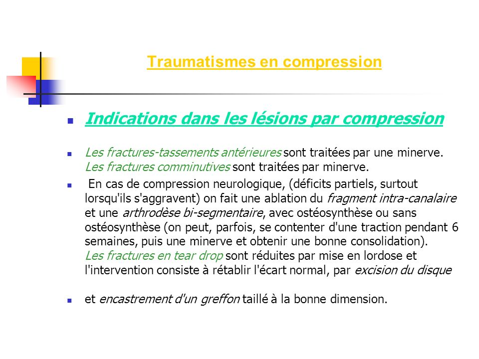 Traumatismes en compression