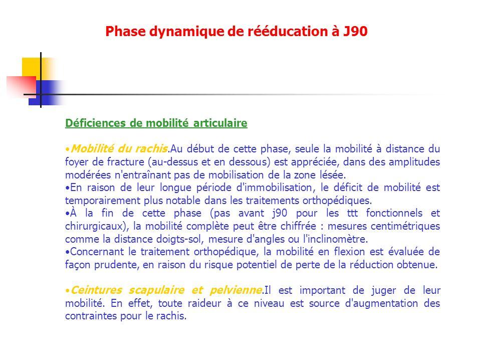 Phase dynamique de rééducation à J90